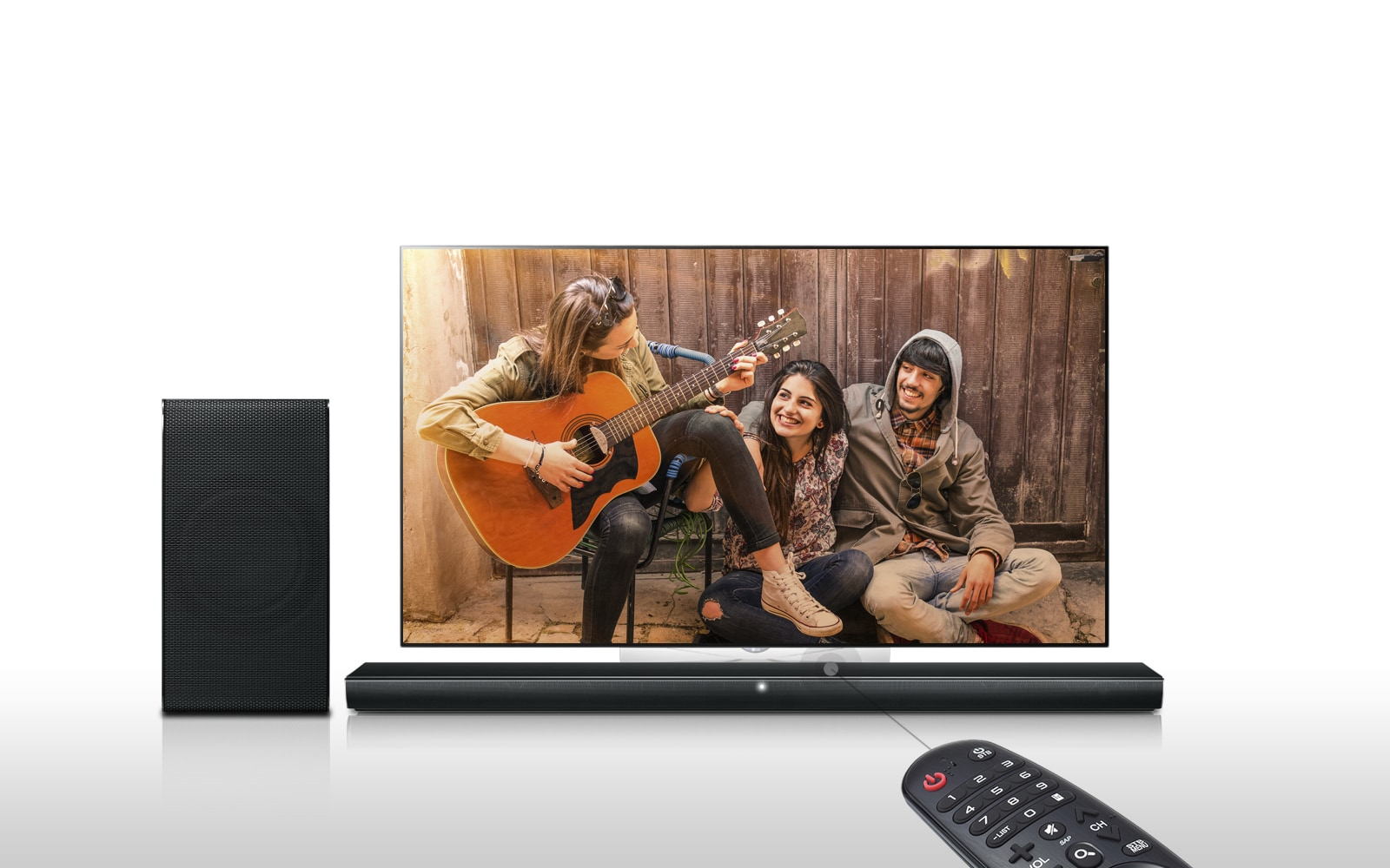 LG 320W 2.1ch Sound Bar with Wireless Subwoofer and Bluetooth ...
