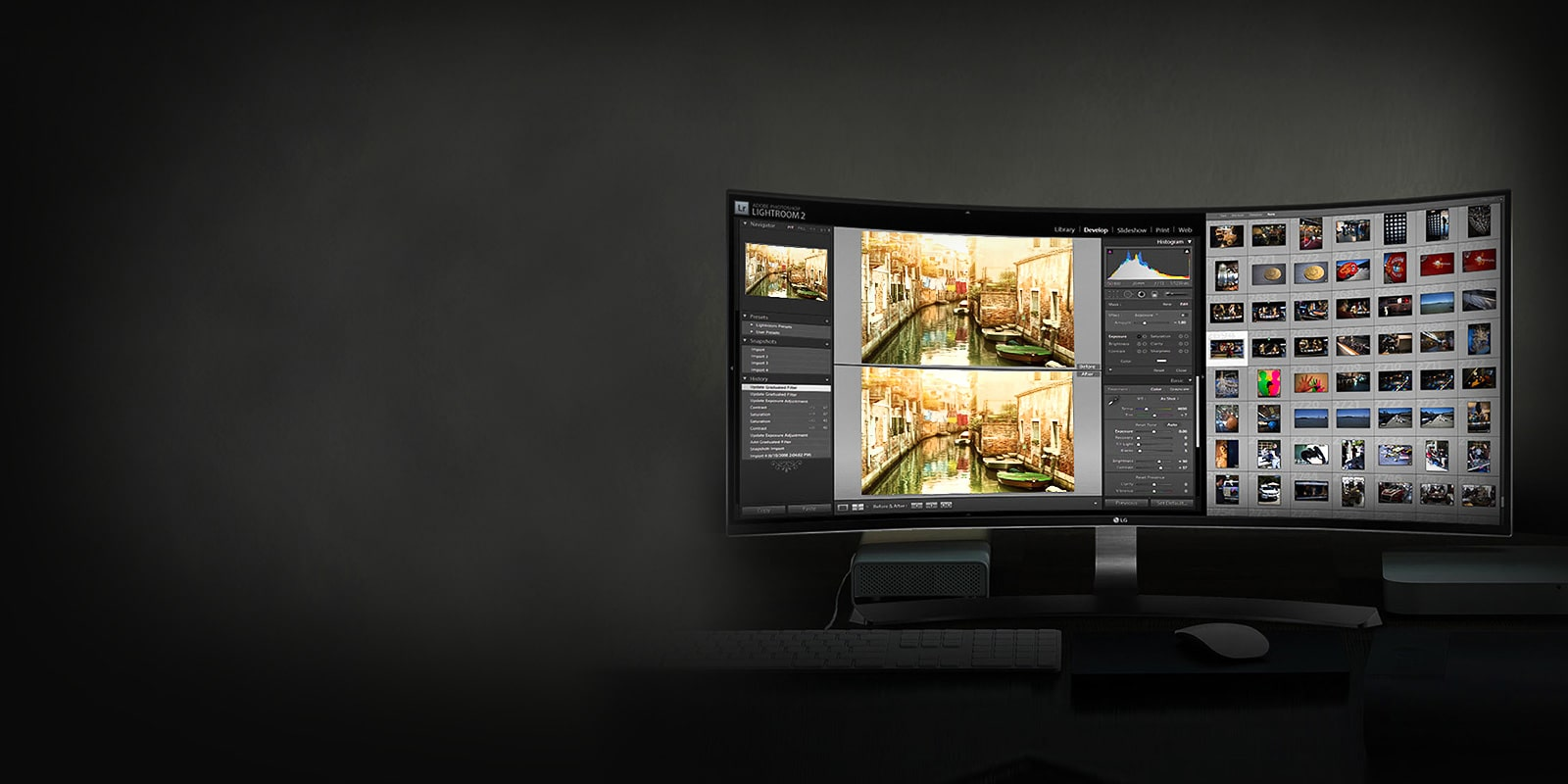 The 21:9 Curved UltraWide to  encourage your creativity