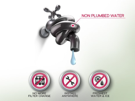 NON PLUMBED WATER & ICE