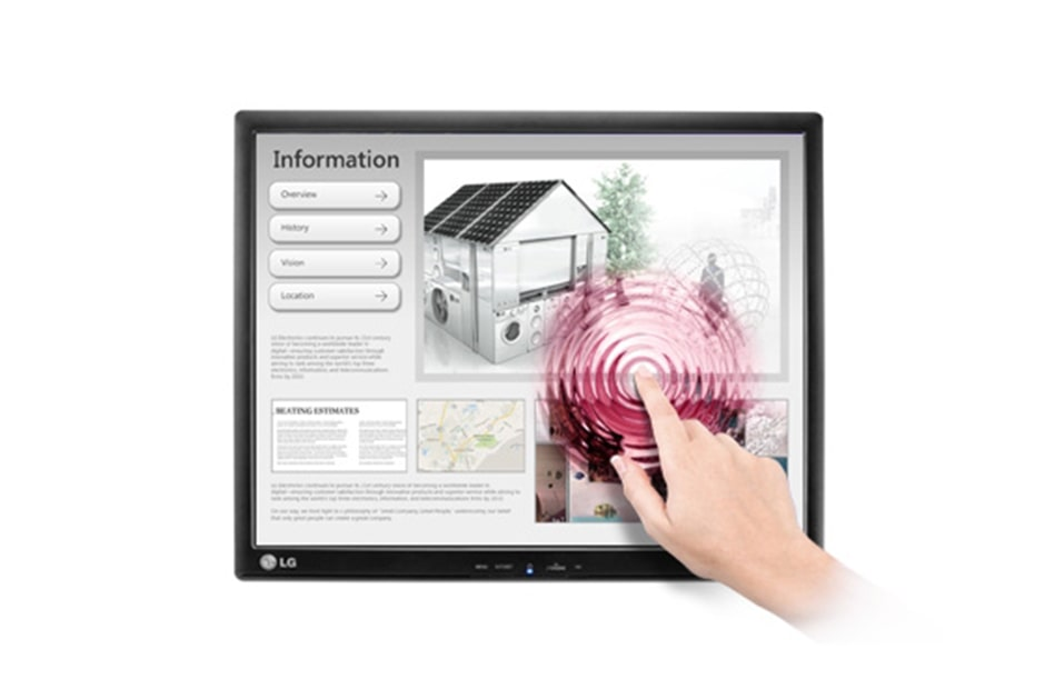 LG 17'' Touch Screen Monitor with HD Resolution, 17MB15T