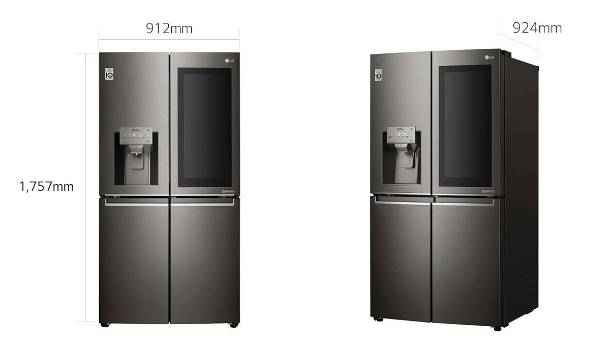 Lg 4 Door Refrigerator Instaview Door In Door Hygiene Fresh Thinq Lg Uae