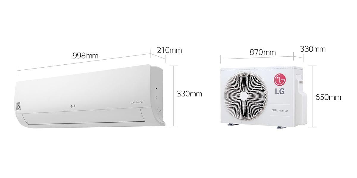 Lg I22tcc Dualcool Inverter Ac 1 5 Ton 65 Operation 65 Energy Saving 60 Faster Cooling Lg Uae