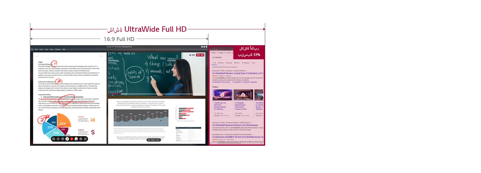 Online classroom with a wide field of view1