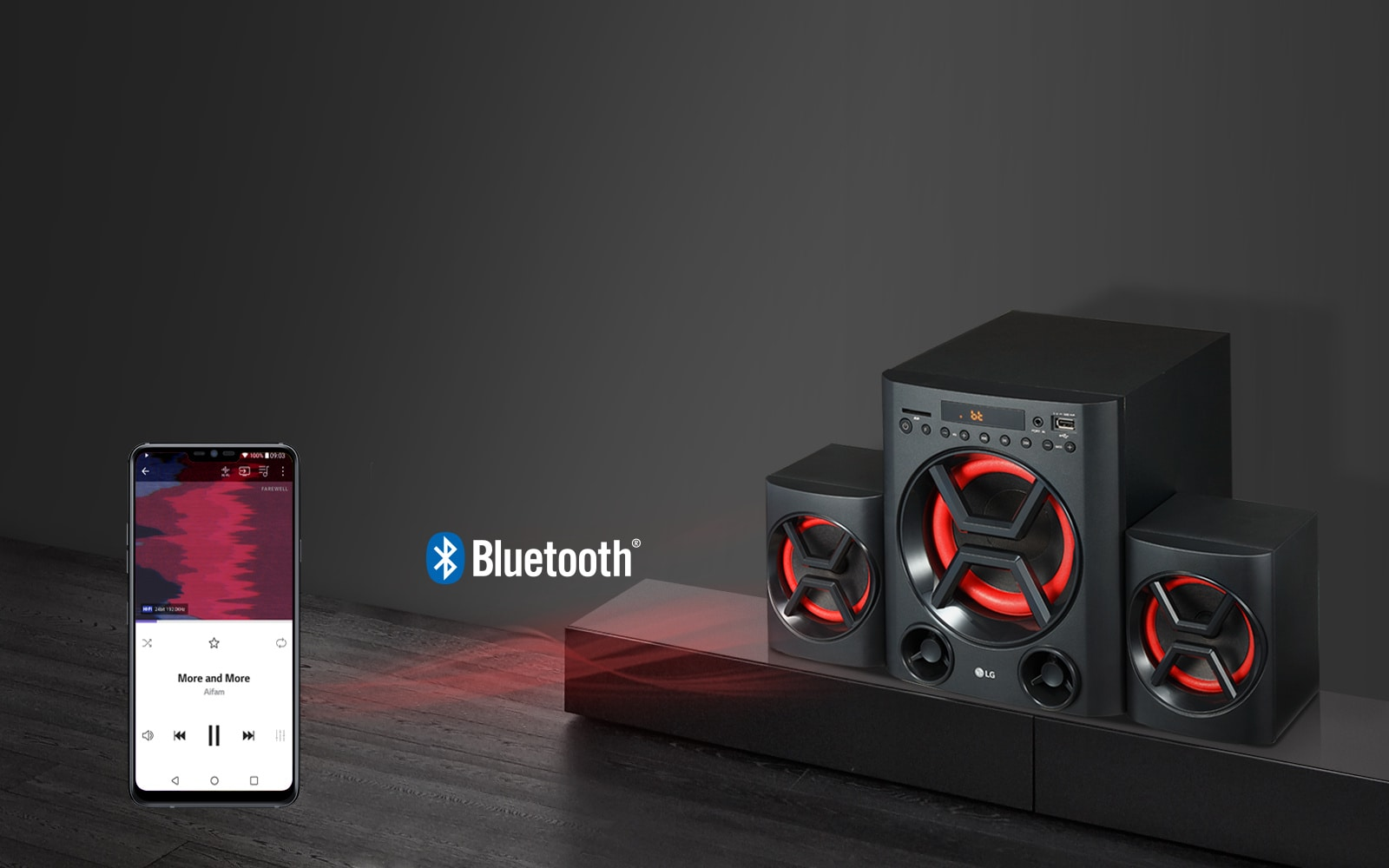 Wireless Audio Streaming via Bluetooth<br>1