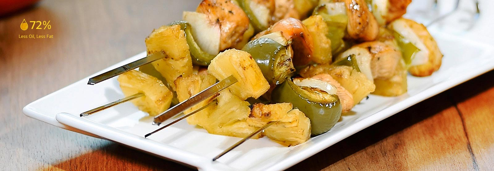 Image of skewered dishes made of various vegetables