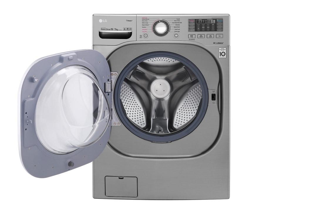 LG Front Load (Wash & Dry)Washing Machine 20/11kg, Silver, Inverter Direct Drive Motor, TurboWash, TrueSteam, Smart ThinQ, F0K1CHK2T2