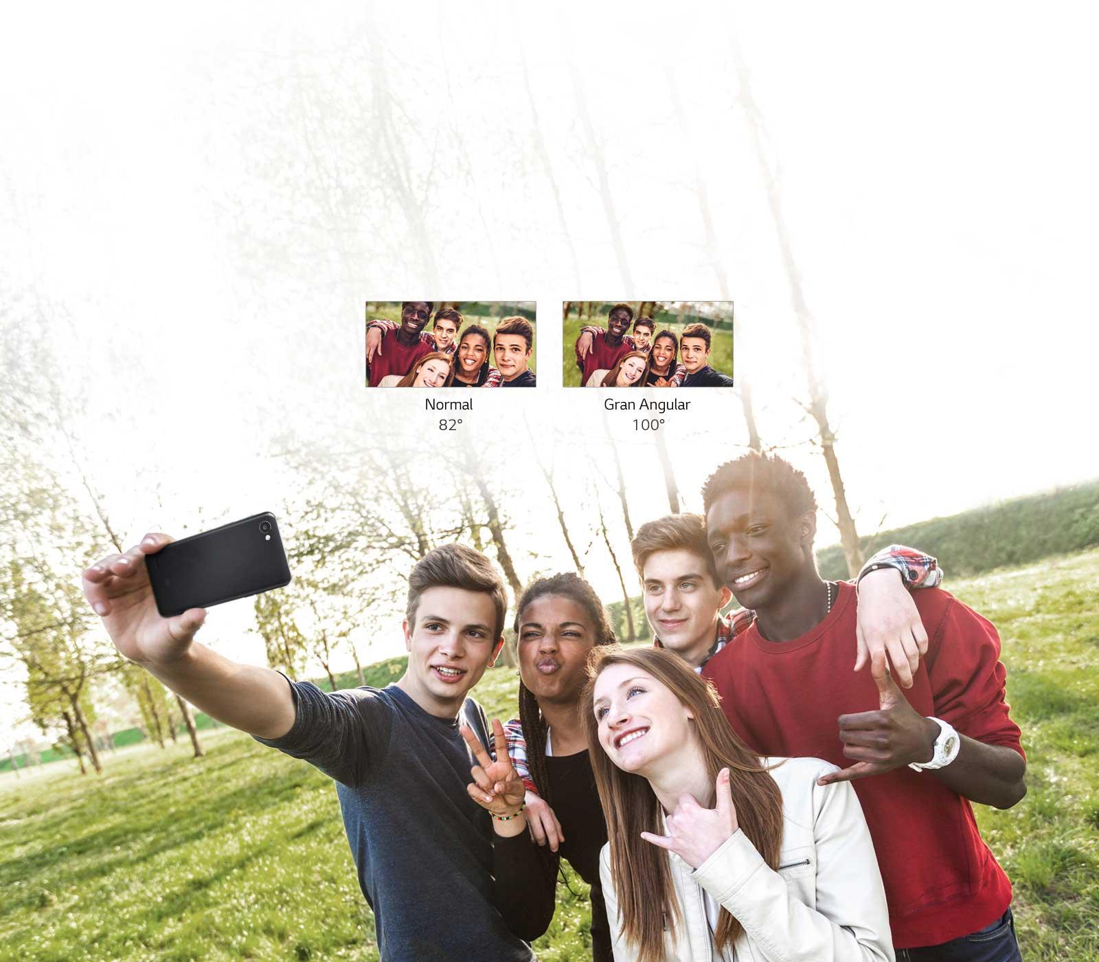 Selfie con gran angular