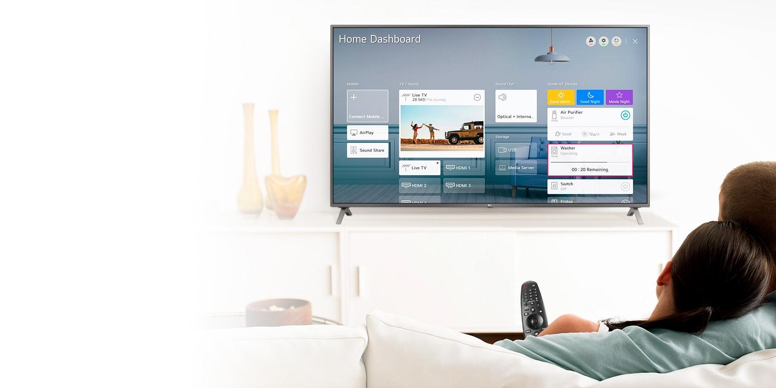 Con Magic Remote controla la televisión y todo tu hogar desde tu sillón1