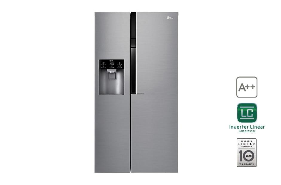Amerikanischer Kühlschrank Crushed Ice : Lg a side by side mit eis crushed ice und wasserspender und