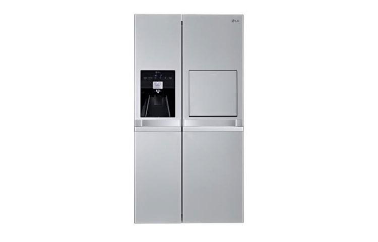 Side By Side Kühlschrank Mit Wassertank Und Barfach : Lg gsp nsqz side by side kühlgerät mit festwasseranschluss