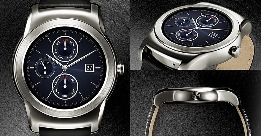 LG W150 Watch Urbane - Runde Android Wear Smartwatch