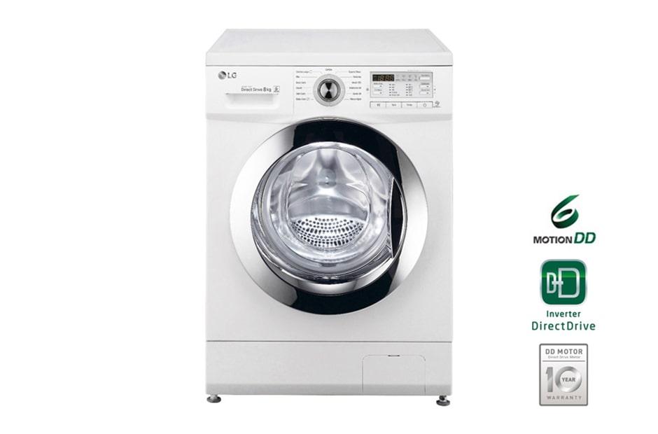 lg waschmaschine mit 6 motion directdrive 8 kg fassungsverm gen und intelligenter. Black Bedroom Furniture Sets. Home Design Ideas