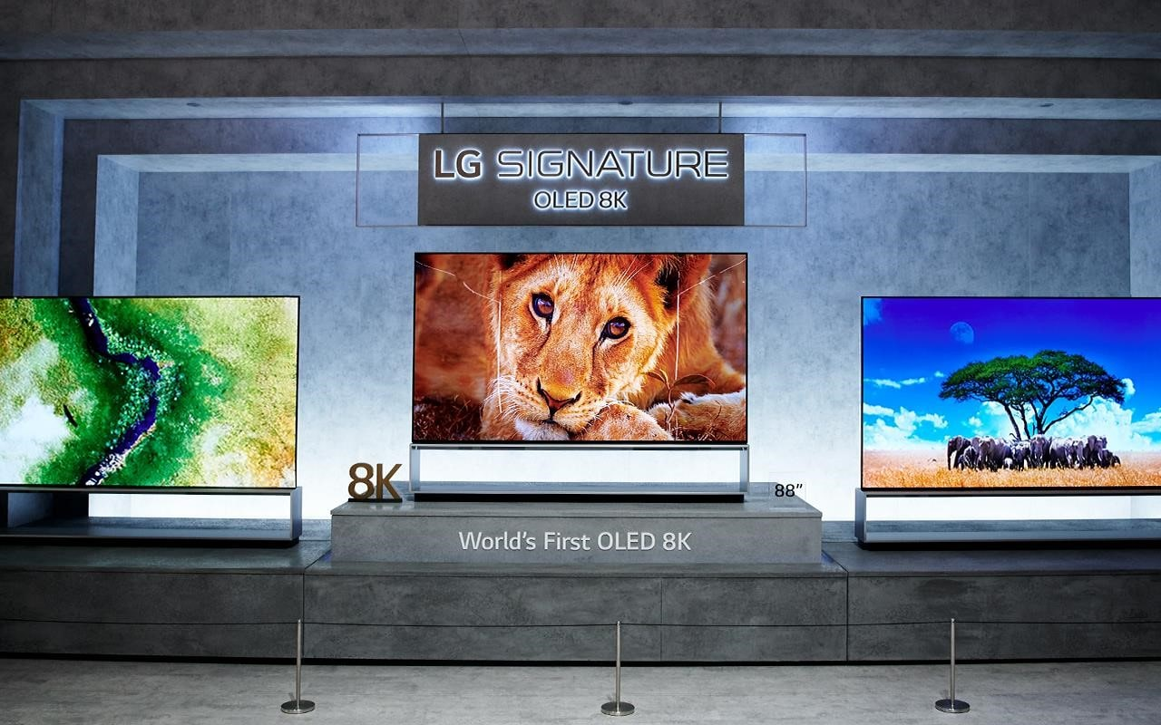 The LG 8K OLED TV was on show at IFA 2019, with perfect blacks and vivid colours creating a lifelike experience | More at LG MAGAZINE