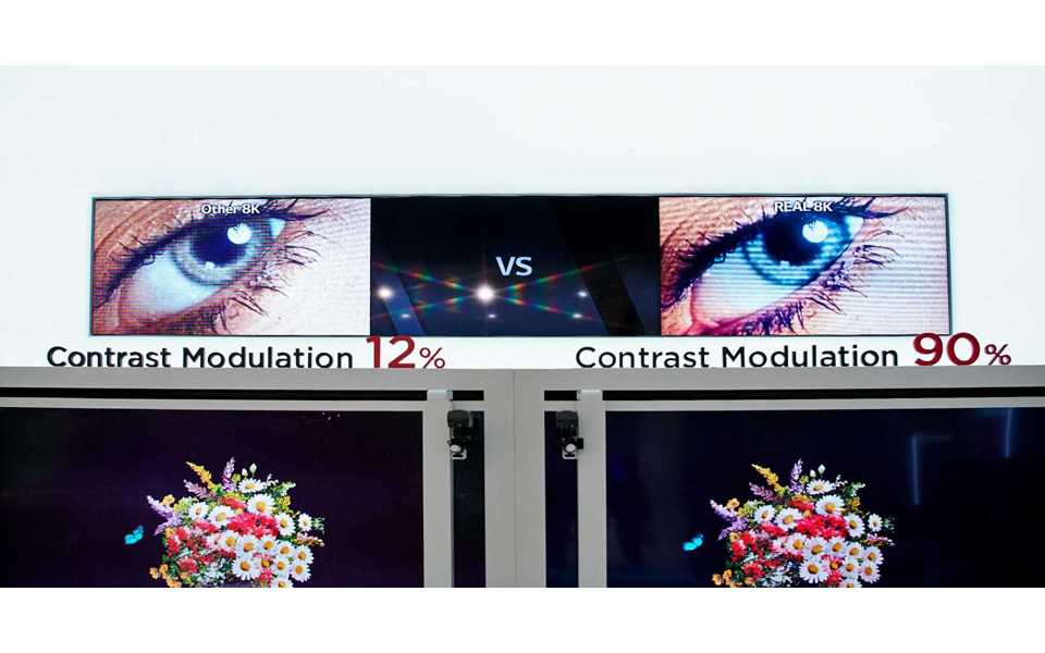 While conventional TVs can have a contrast modulation as low as 12%, LG passed the test with flying colours and 90% | More at LG MAGAZINE