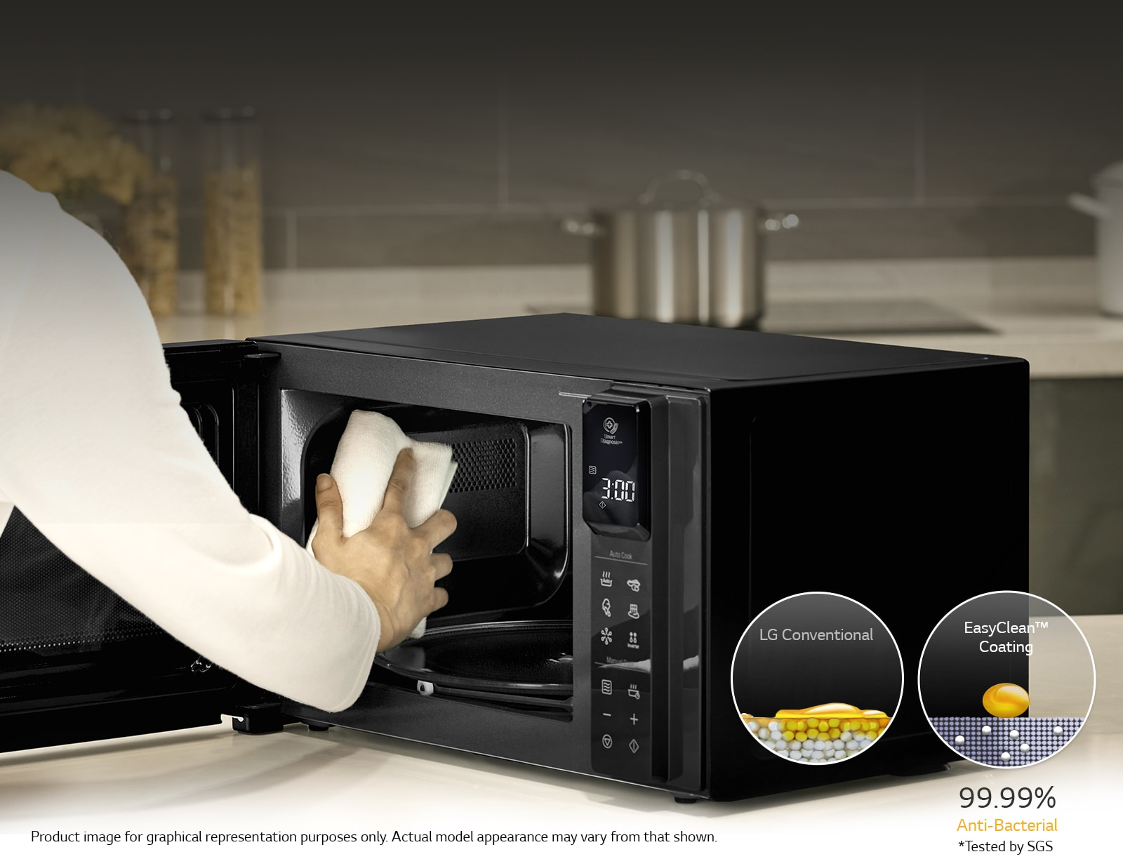 LG NeoChef, 25L Smart Inverter Microwave Oven MS2596OS