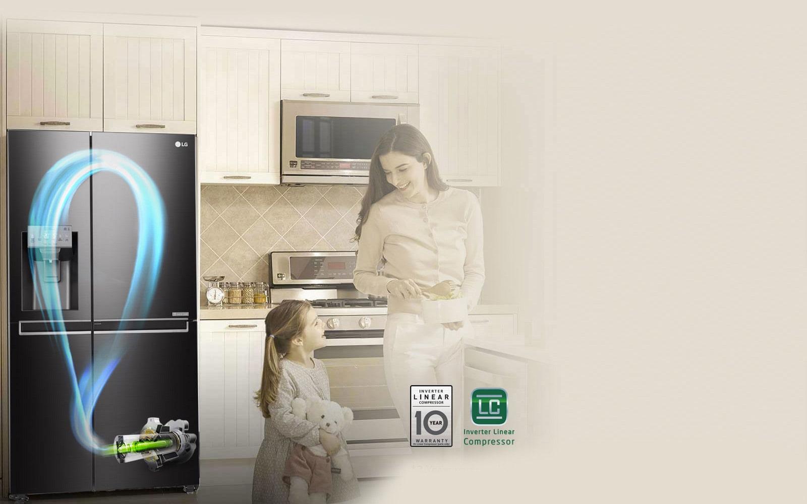 LG GS D665BSL 665L Side By Side Refrigerator with Door In Door™ #2C839F