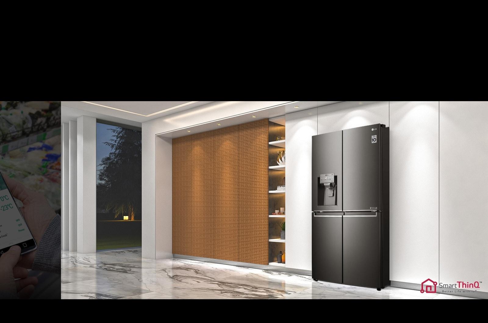 Lg French Door Fridge Gf D708bsl 708l Door In Door Lg