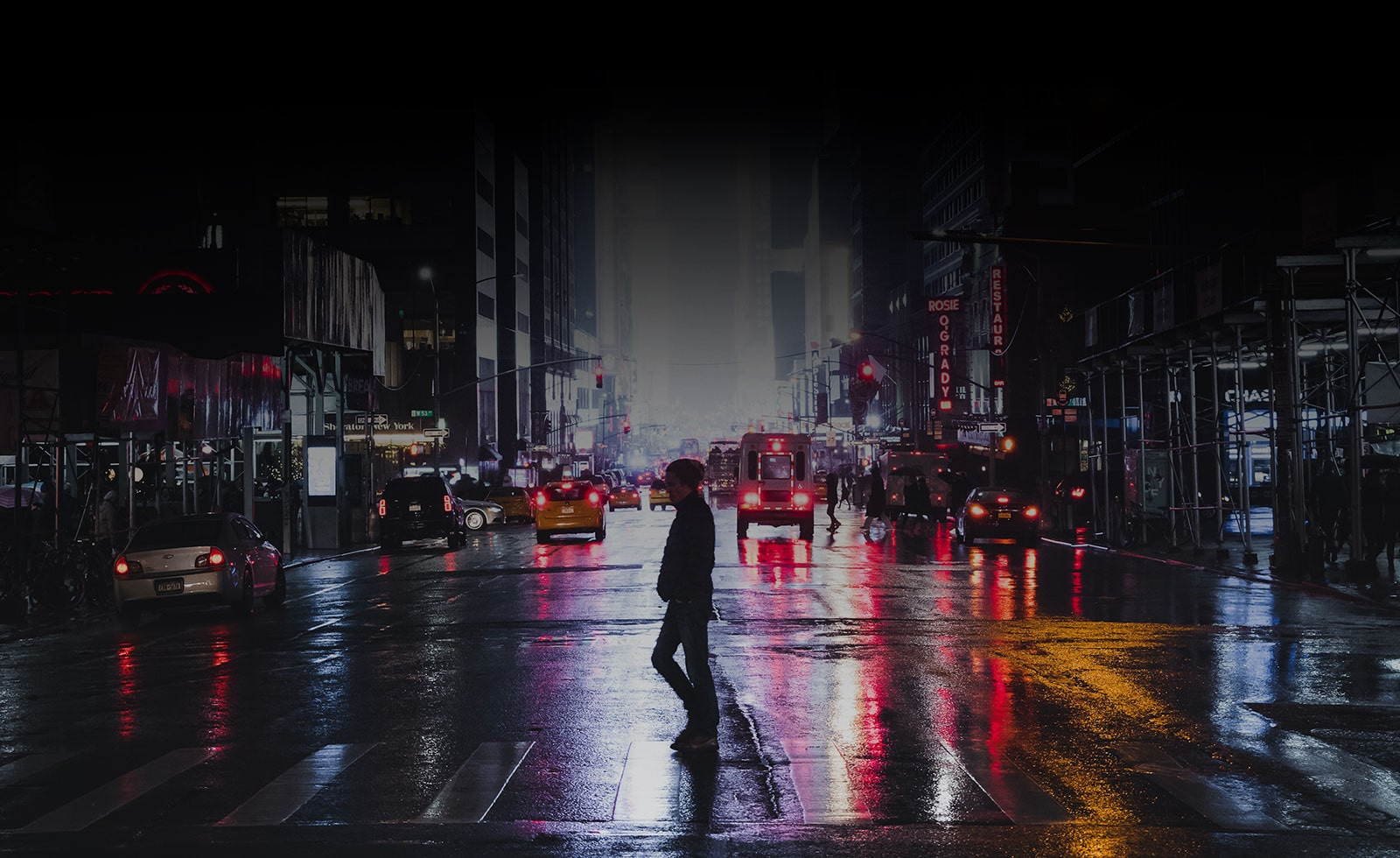 OLED Display LG TV Perfect Blacks City Streets