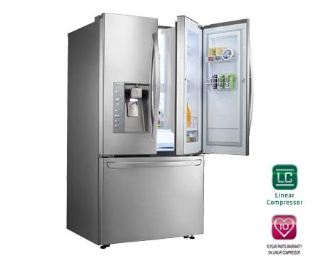Lg Gr D907sl 3 Door French Door Refrigerator With Door