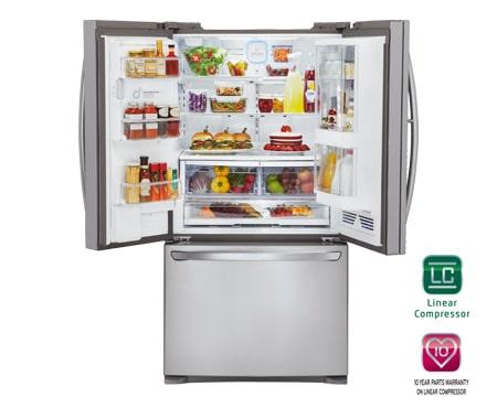 ... LG GR D907SL 3 Door French Door Refrigerator With Door In Door