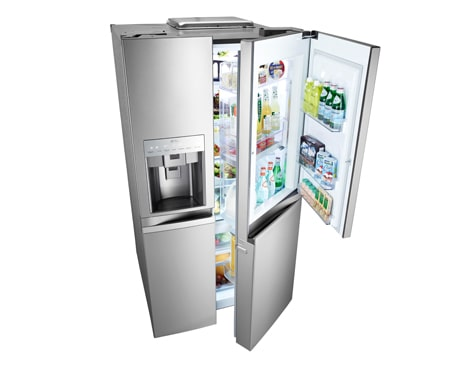 lg gr d257sl 661l door in door side by side refrigerator. Black Bedroom Furniture Sets. Home Design Ideas
