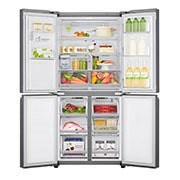 LG 570L Slim French Door Fridge with Non-Plumbed Ice & Water Dispenser in Stainless Finish, Front Open Food, GF-L570PNL, thumbnail 2