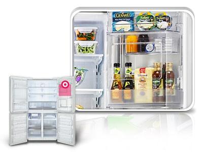 Gf 5d712sl 712l 5door French Door Refrigerator With Door