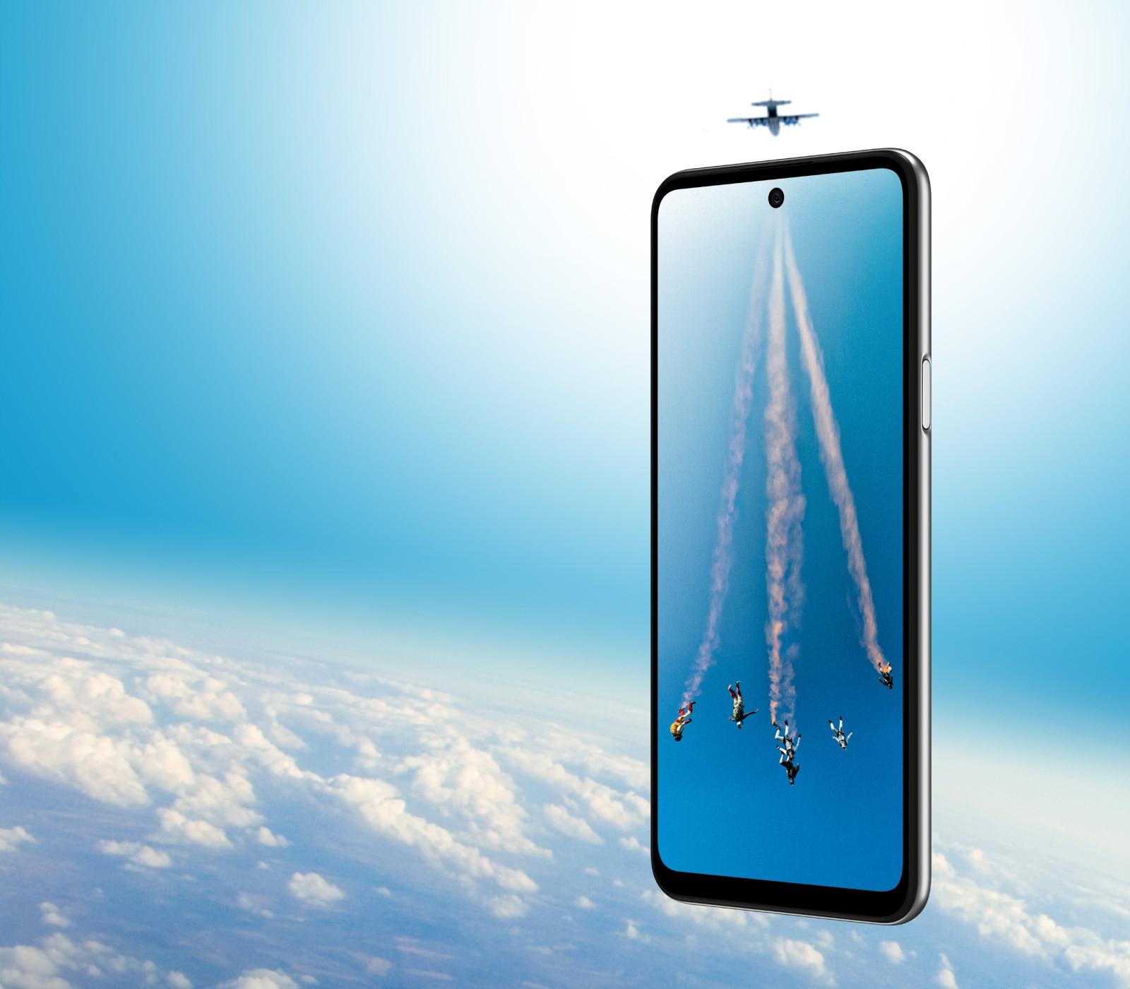 Smartphone on the sky.