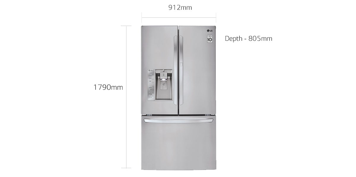 Lg French Door Fridge Gf Sd730sl 730l Slim Ice Maker