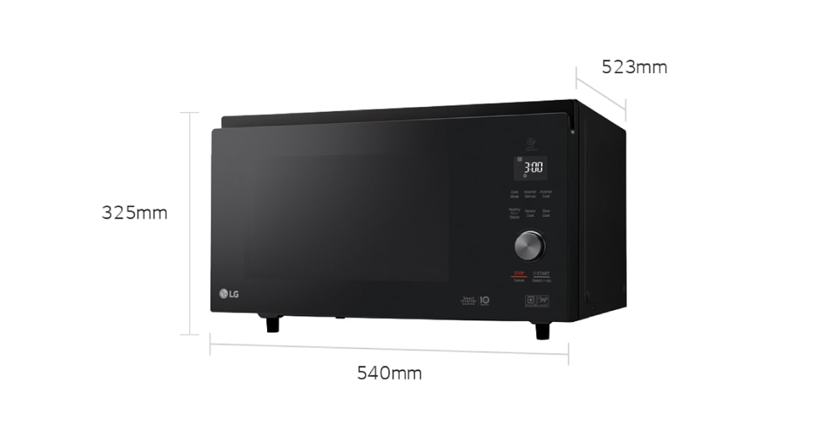 Lg Microwaves Mj3966abs 39l Convection Microwave Oven