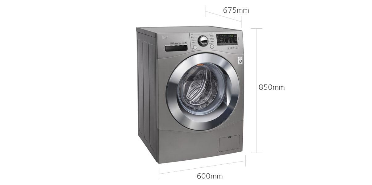 lg washing machine measurements
