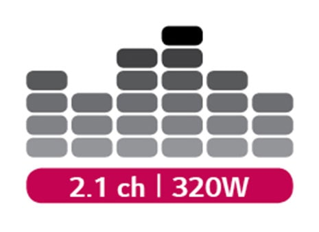 320W power/2.1 sound channels
