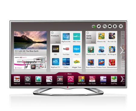 60\ 60 Full HD LED LCD TV 60LA6230 Smart 3D | LG™ Australia