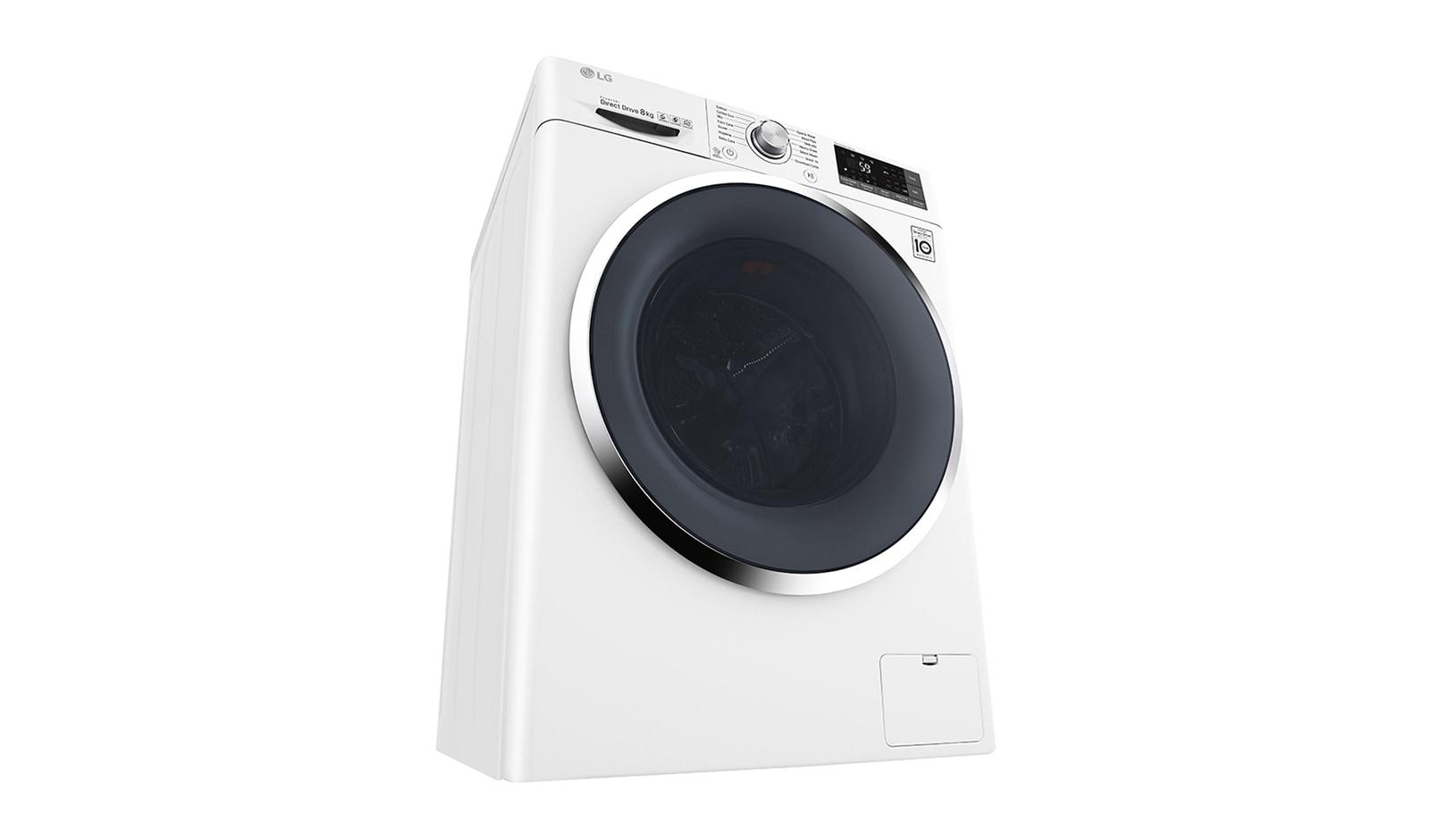 LG Front Load Washing Machines   WD1408NCW 8kg Front Loader   LG Australia
