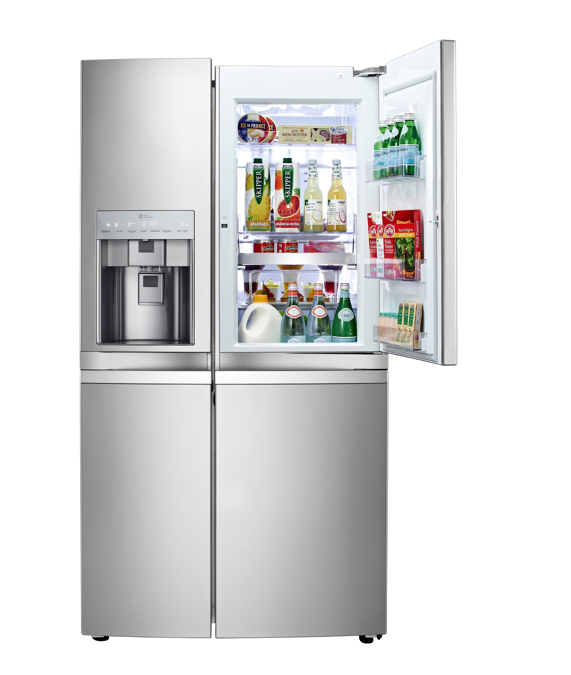 lg introduces the anticipated side by side door in door refrigerator. Black Bedroom Furniture Sets. Home Design Ideas