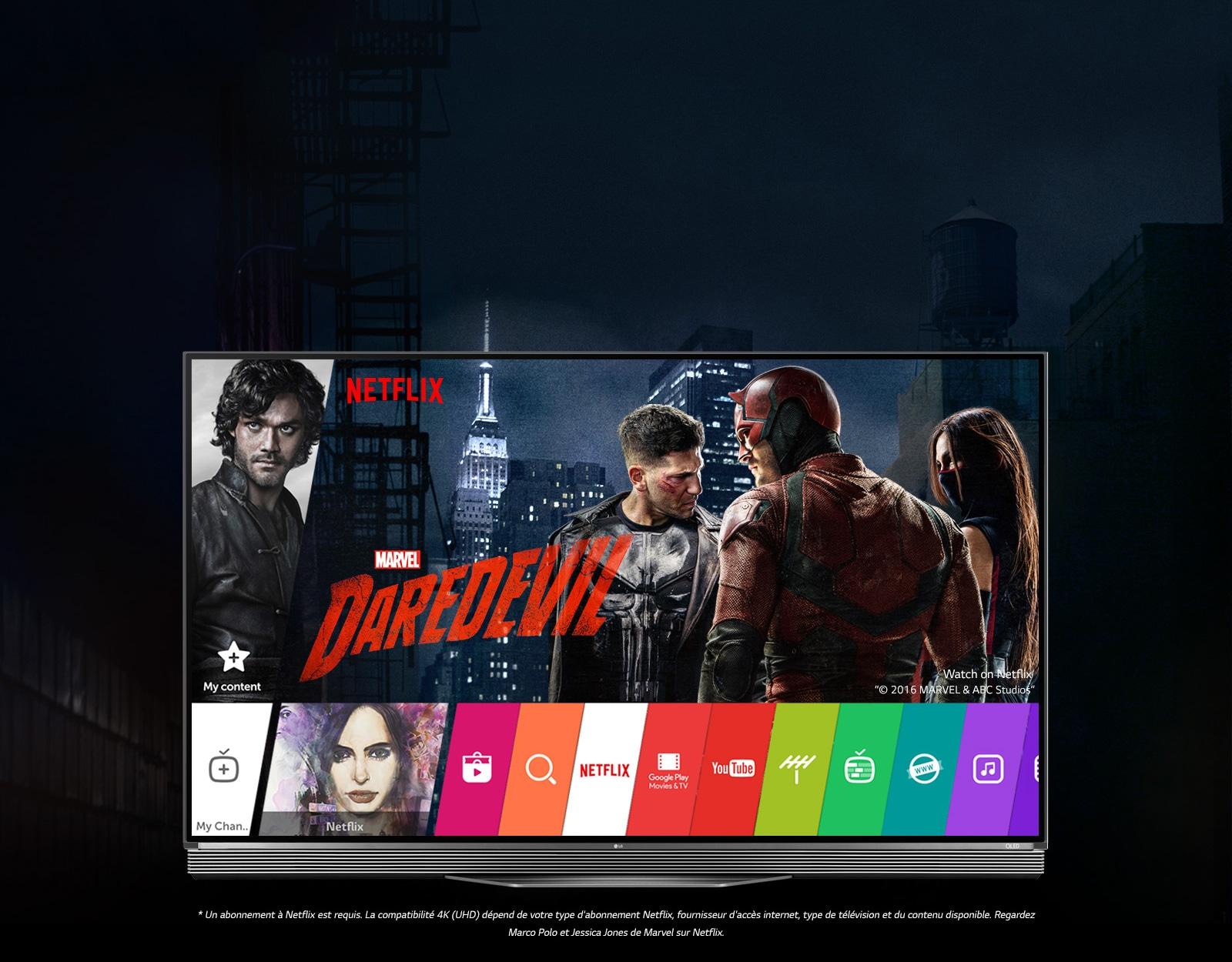 Le LG TV OLED SIGNATURE est la parfaite association pour visionner Netflix