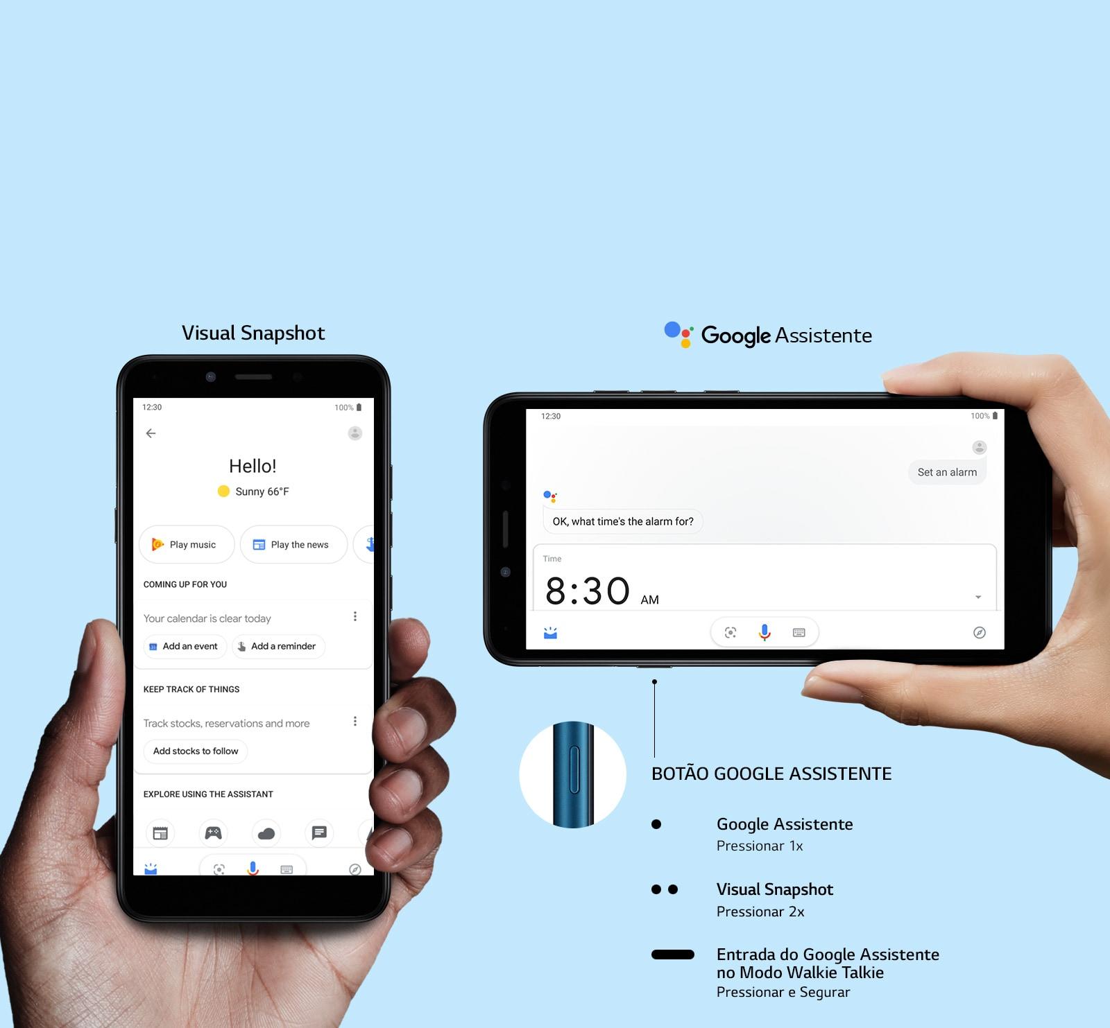 Um toque ativa o Google