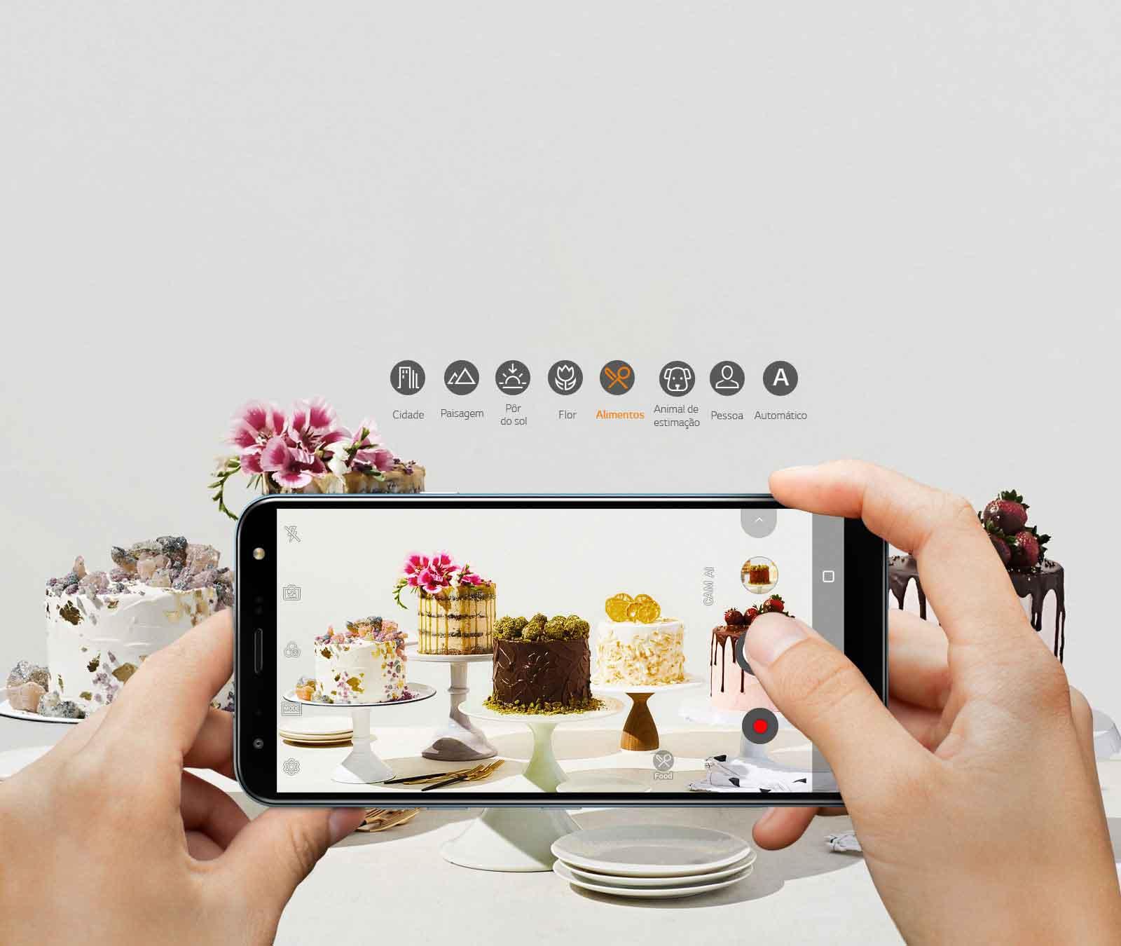 Câmera com inteligência artificial Configurações ideais em um instante