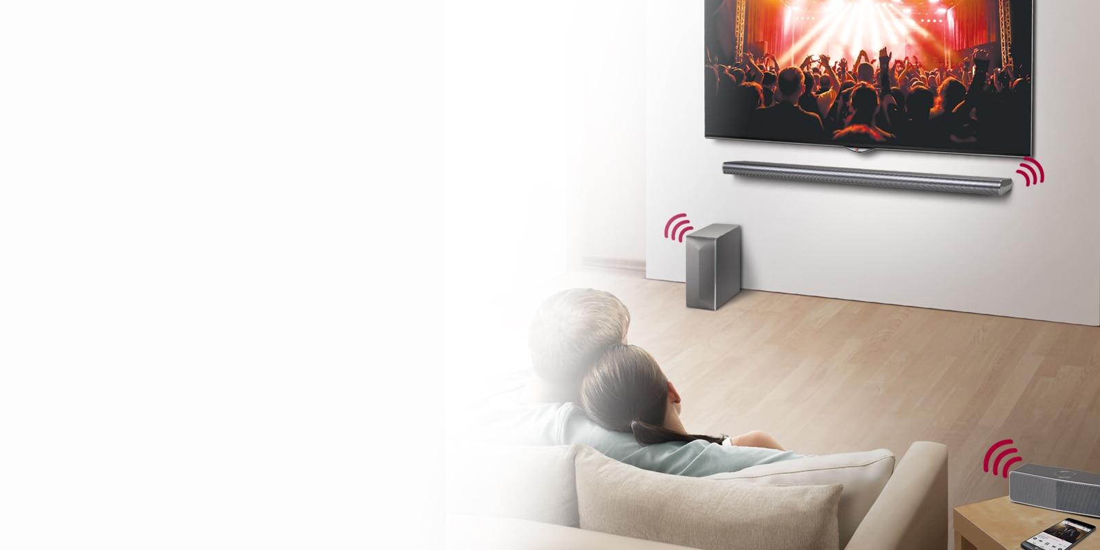 Conexão sem fio com Sound Sync Wireless