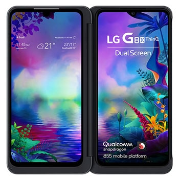 "Smartphone LG G8X ThinQ - Duas telas OLED de 6.4"", Full HD+, Frontal de 32MP e Memória de 6GB/128GB1"
