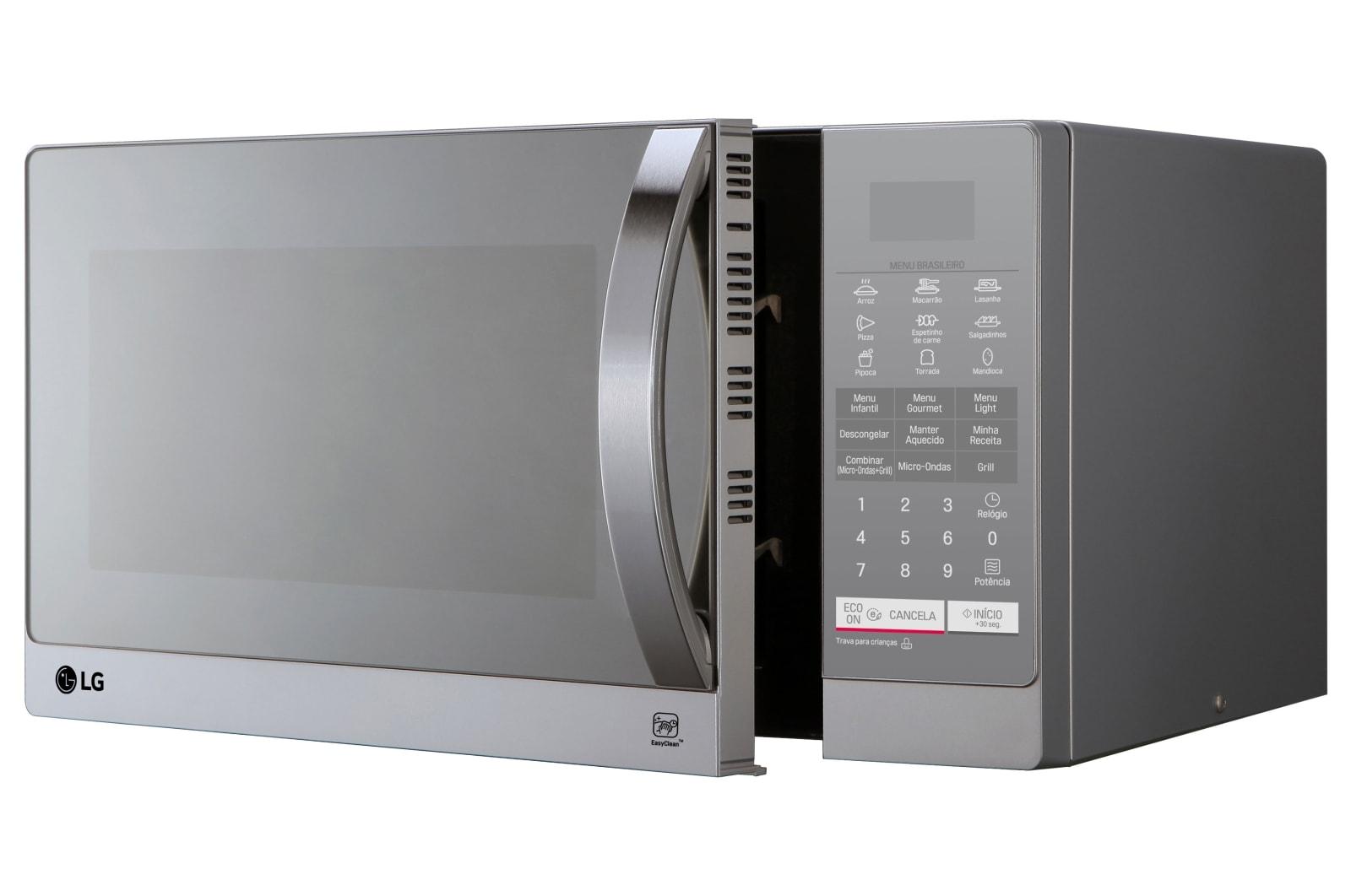 3e1050fe1 Micro-Ondas Prata LG Grill