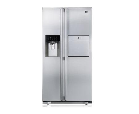 lg refrigerador side by side lg com home bar e acabamento em a o escovado lg brasil. Black Bedroom Furniture Sets. Home Design Ideas