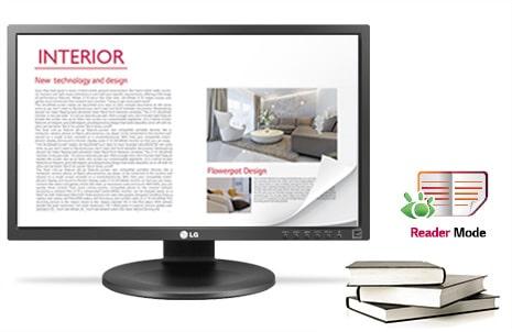 Monitor com Modo de Leitura