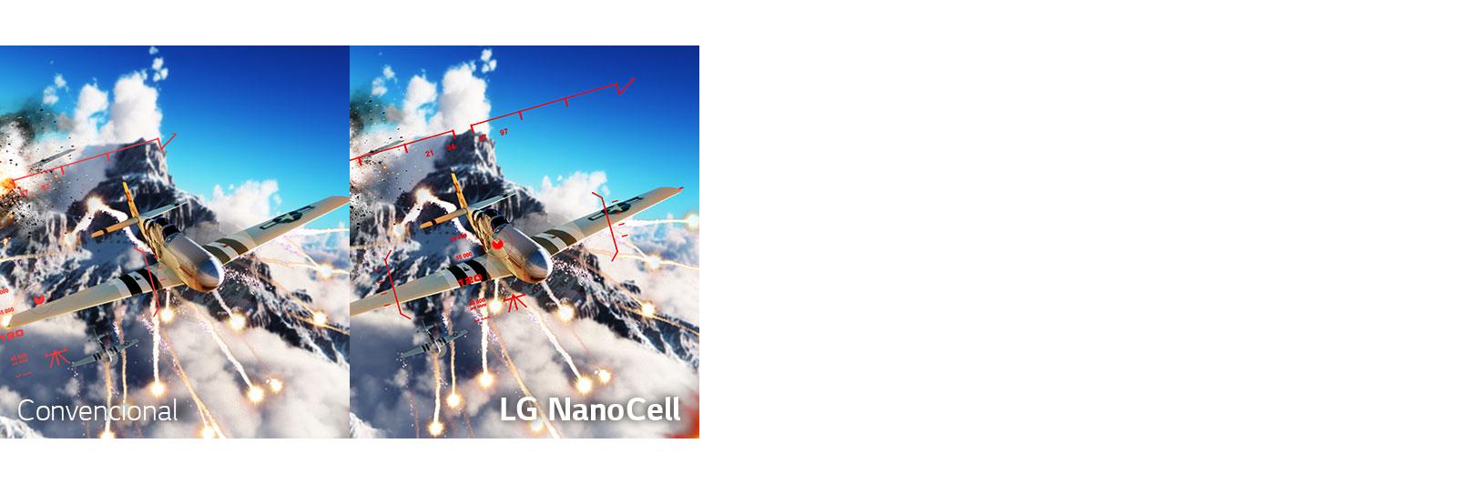 A cena de um game de batalha com um avião