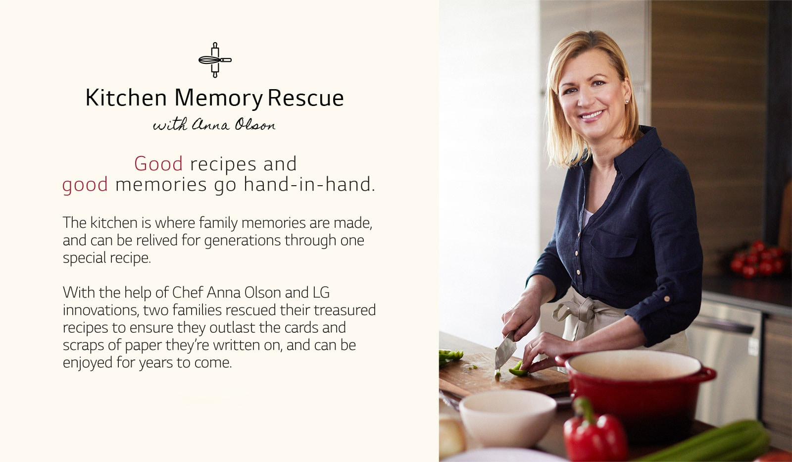 Kitchen Memory Rescue. Good recipes and good memories go hand-in-hand