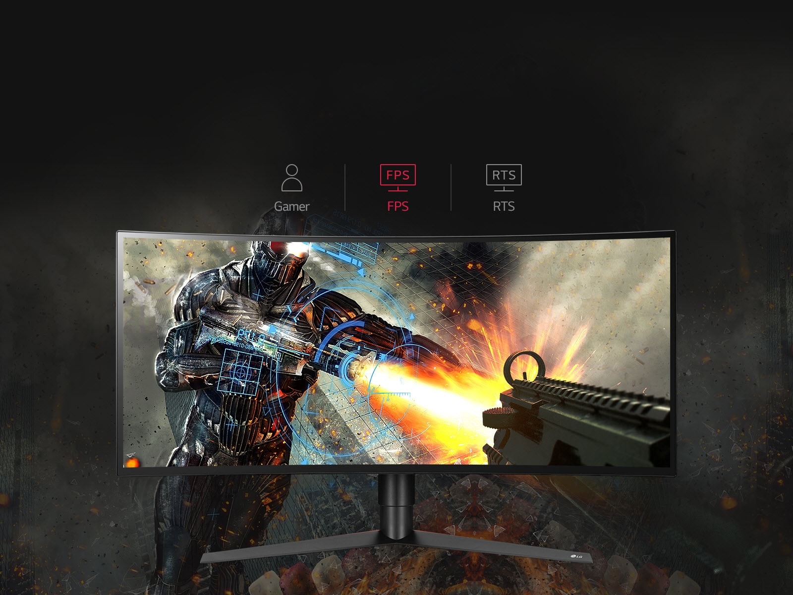 LG 34 Class 21:9 UltraGear QHD IPS Curved LED Gaming Monitor