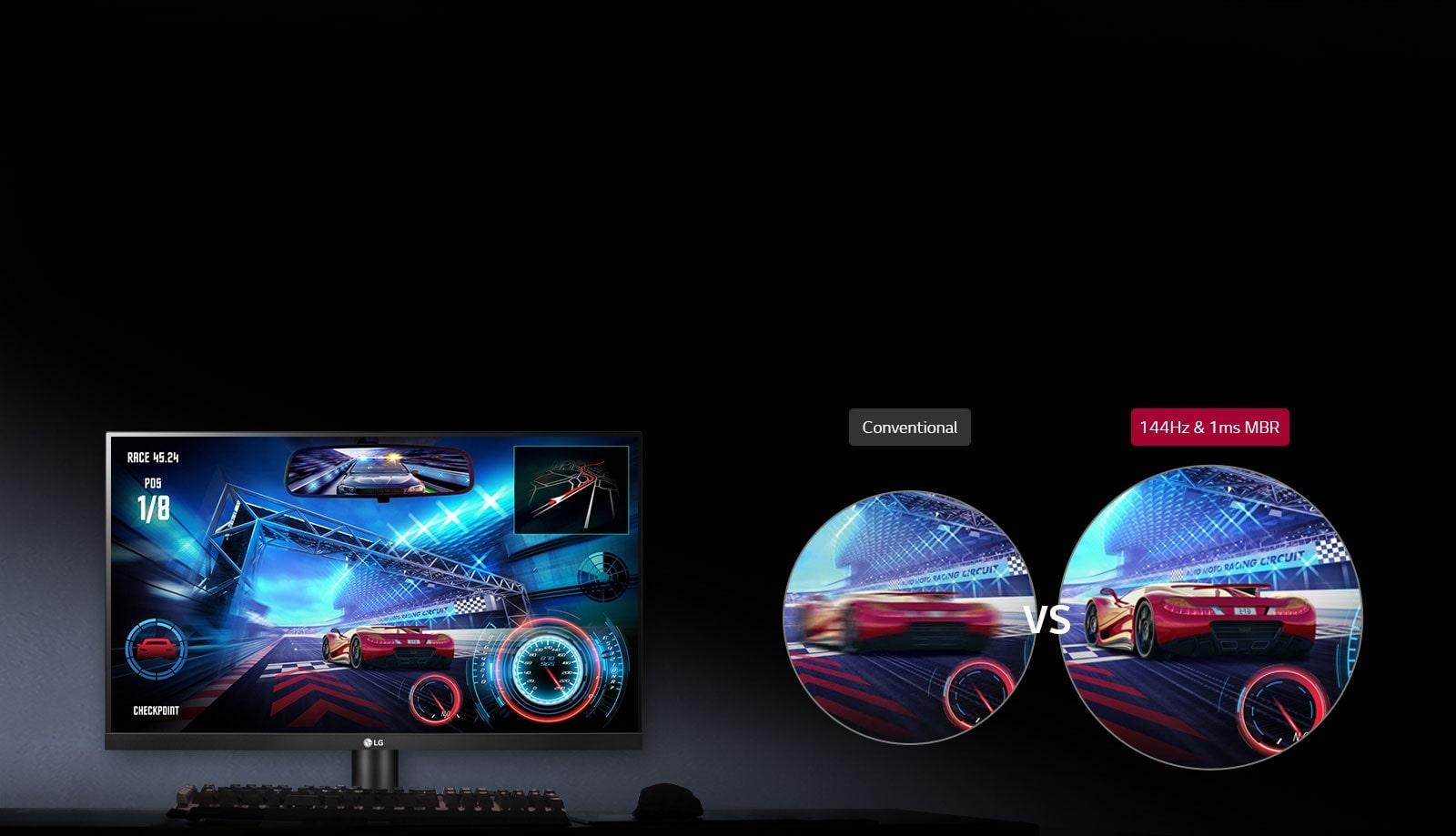 """LG 27"""" 144Hz 1ms MBR IPS Gaming Monitor 