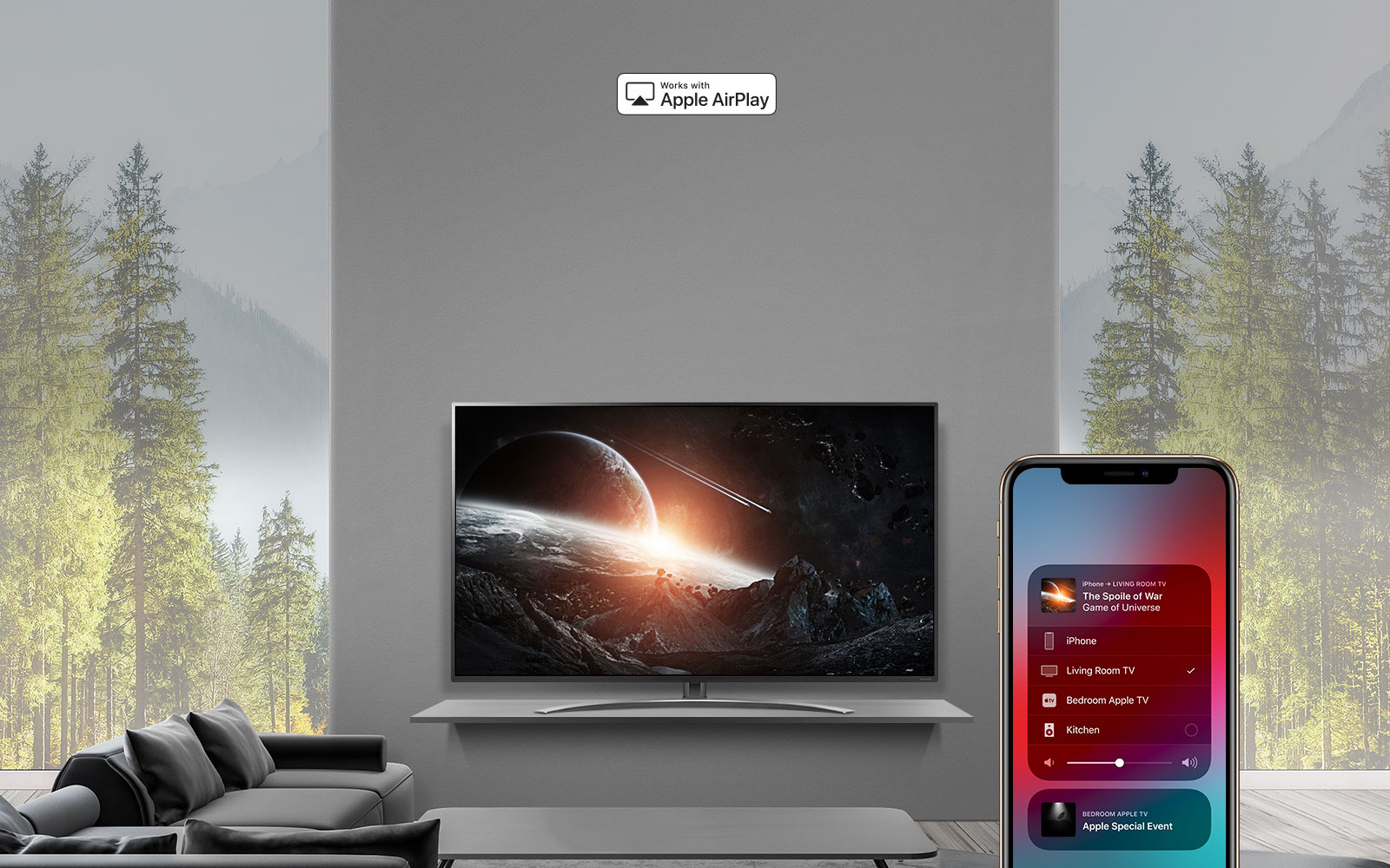 AirPlay Lets You Do It All. Watch. Listen. Share.