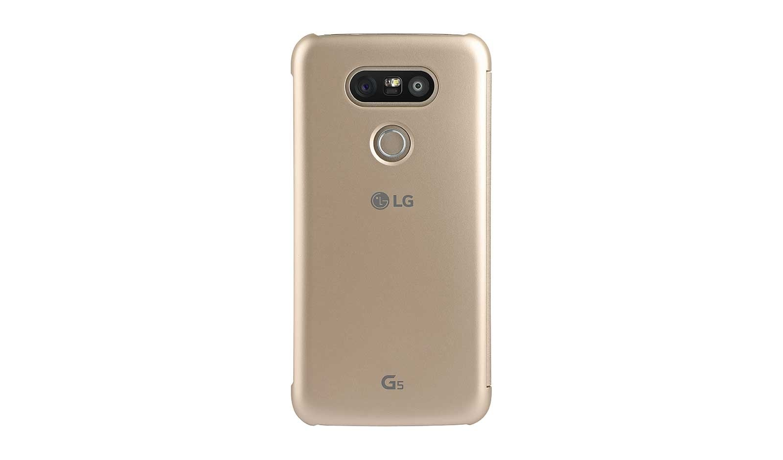 new product 406a4 74486 LG G5 Quick Cover Case - Gold | LG Canada