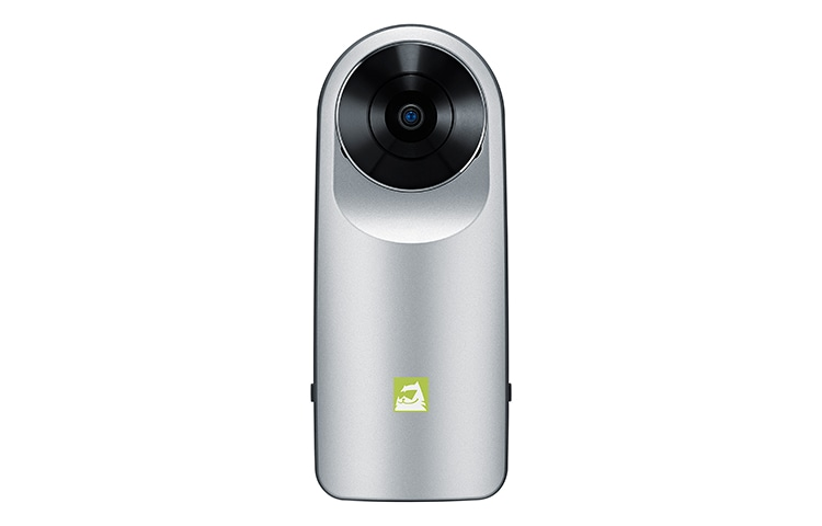 The LG 360 CAM lets you seamlessly capture the world around you with one click thumbnail 3